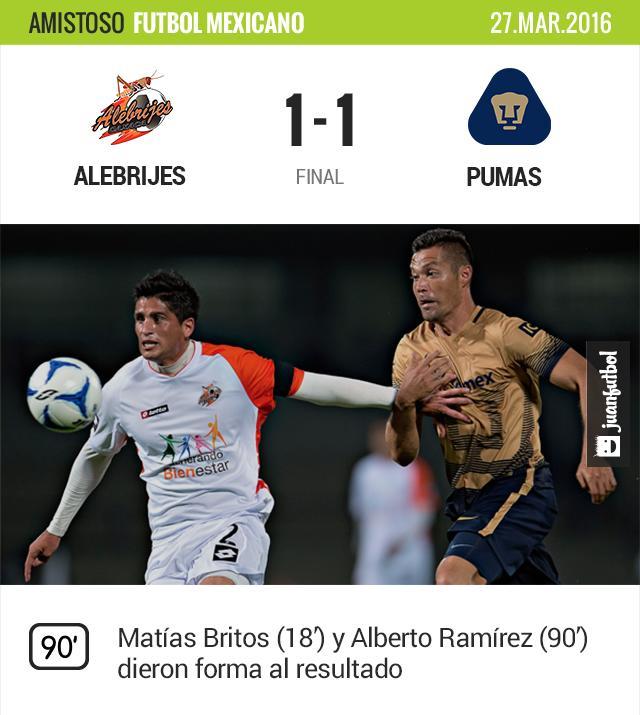Pumas vio perdido el triunfo al final del partido.