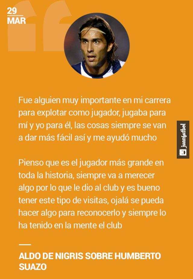 Aldo De Nigris recordó con alegría a Humberto Suazo