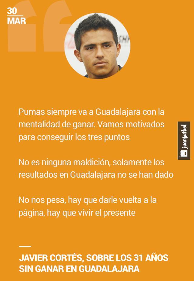 Javier Cortés habla sobre la racha de Pumas en Guadalajara, asegura que van a ganar.