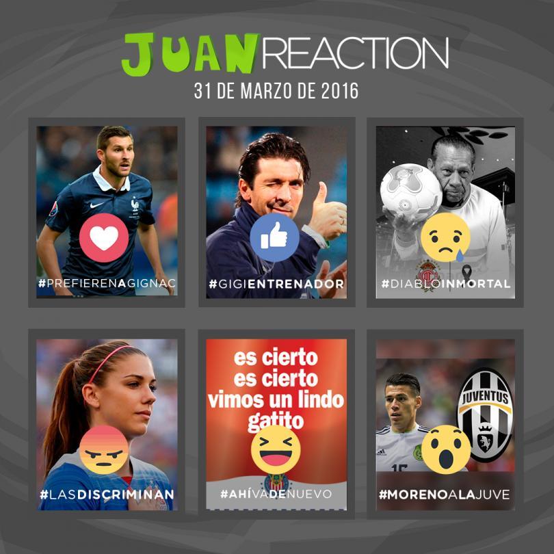 las reacciones del día