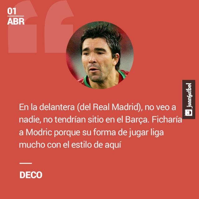 Deco piensa que los atacantes del Real Madrid no tienen nada que hacer frente a la MSN.