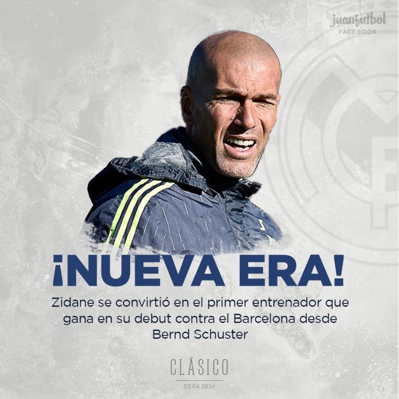 Zidane es el primer entrenador en ganar en su debut contra el Barça.