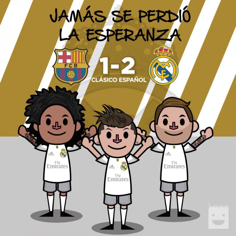 El Real Madrid sabía que podía ganarle al Barcelona.