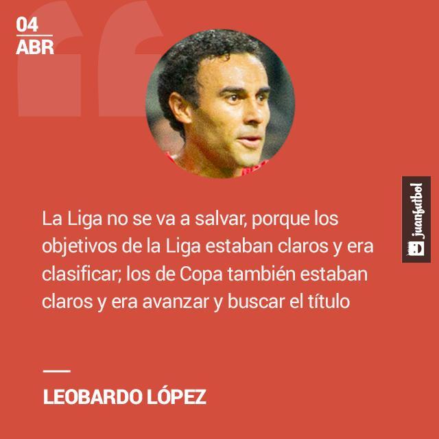Leobardo López dijo que Veracruz no salvará los malos resultados del Clausura 2016 si ganan la Copa.