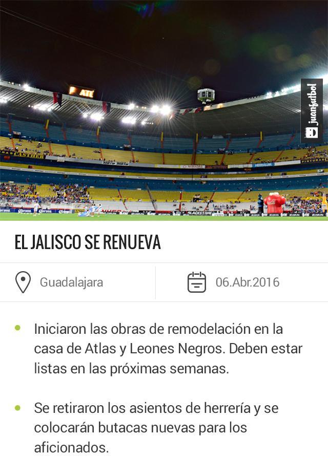 La Liga MX exigió al Atlas y a Leones Negros que remodelaran el Estadio Jalisco.
