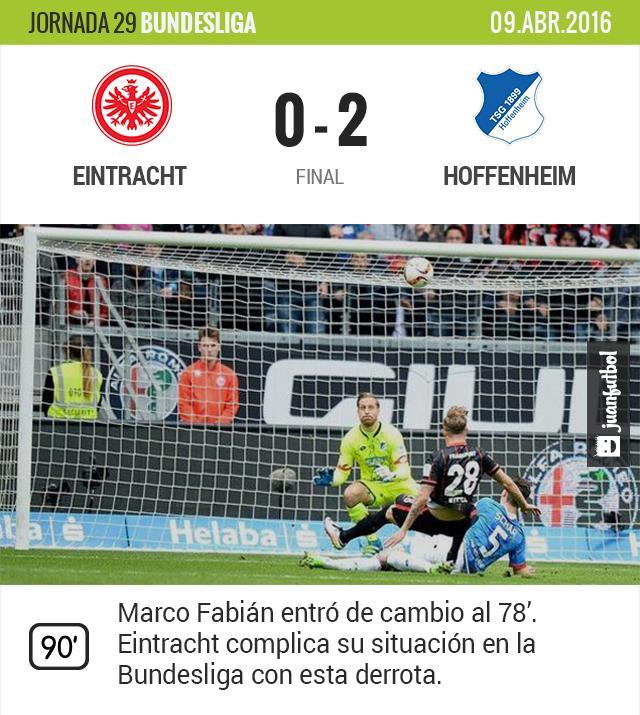 Eintracht Frankfurt está al borde del descenso.