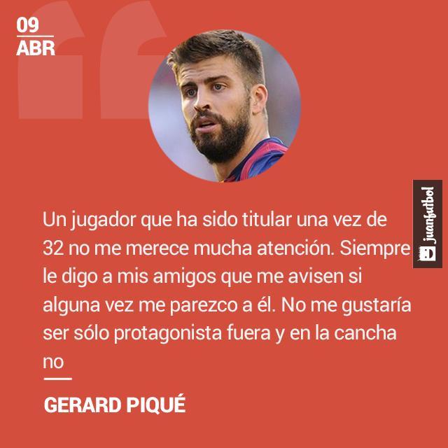 Gerard Piqué le responde a Arbeloa