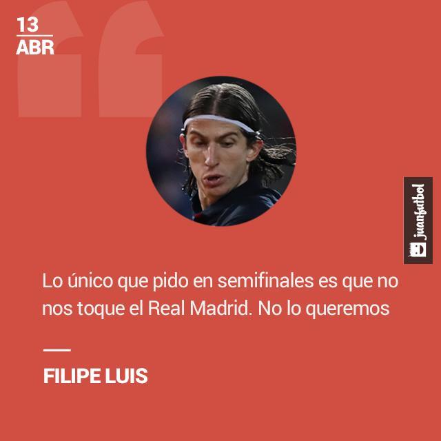 Filipe Luis elogió el nivel del Barcelona.
