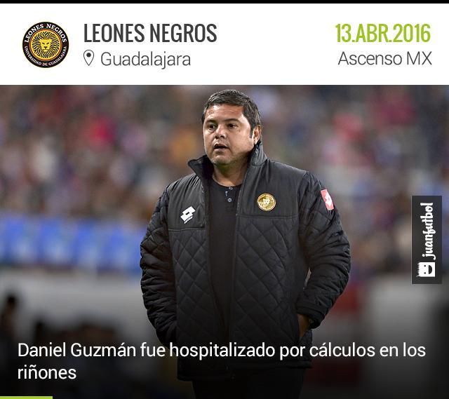 Se espera que Daniel Guzmán esté de regreso en los entrenamientos a la brevedad.