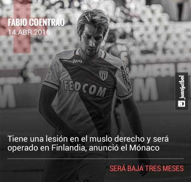 Fabio Coentrao será operado y se perderá la Eurocopa.