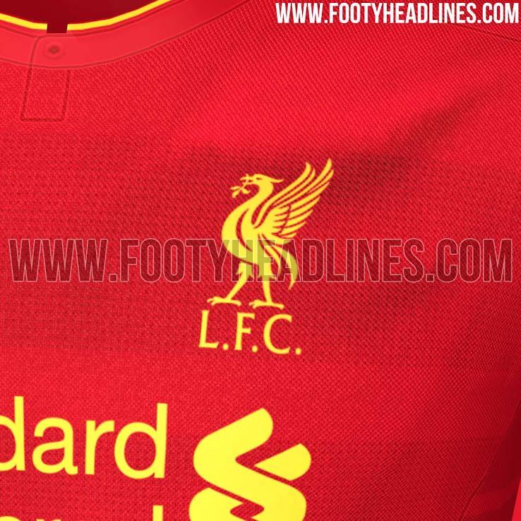 Así será la camiseta local del Liverpool la próxima temporada.