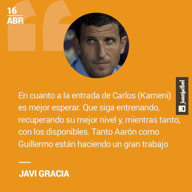 Javi Gracia habló sobre la titularidad de Guillermo Ochoa