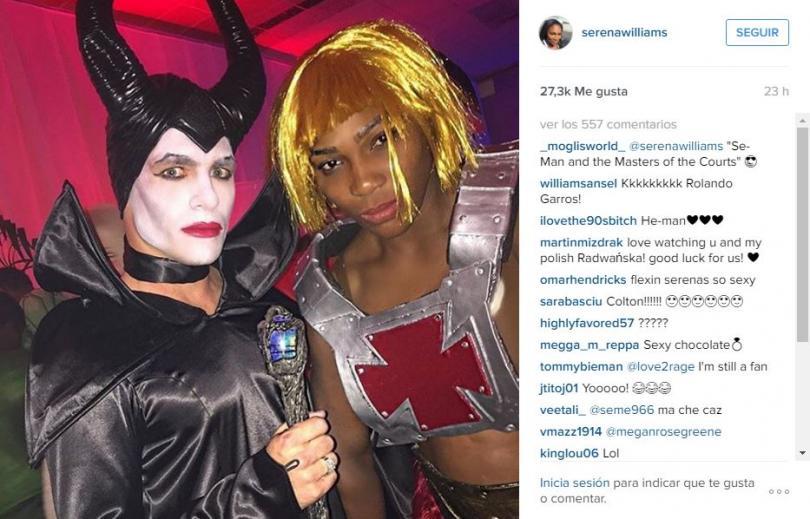 Serena Williams se disfrazó