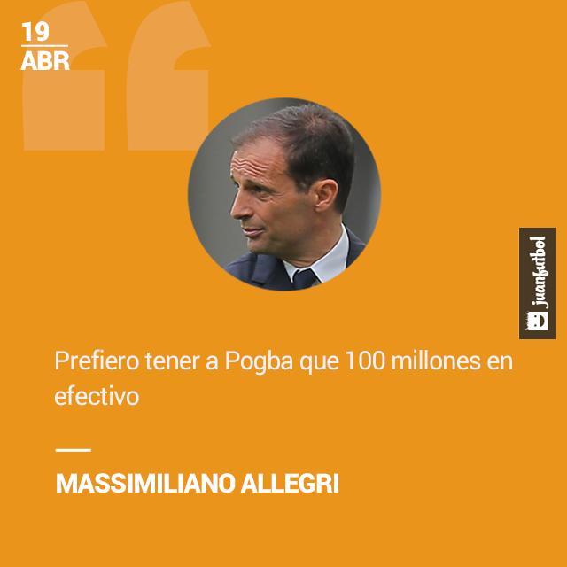 Allegri quiere a Pogba en la Juventus.