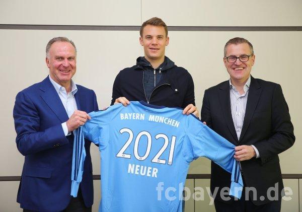 Neuer ha renovado hasta 2021 con el Bayern Munich.