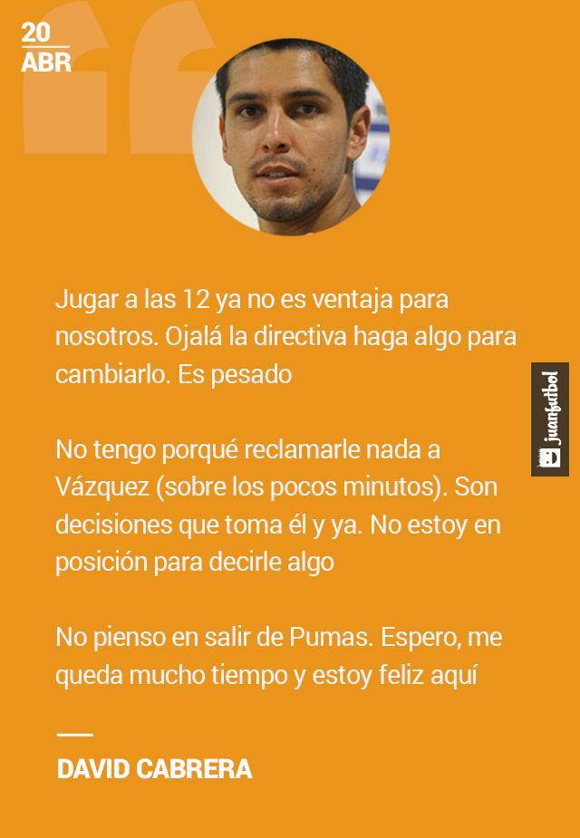 David Cabrera habla sobre el cambio de horario en Pumas