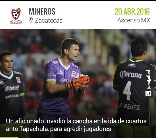 Los jugadores de Mineros de Zacatecas fueron agredidos por un aficionado