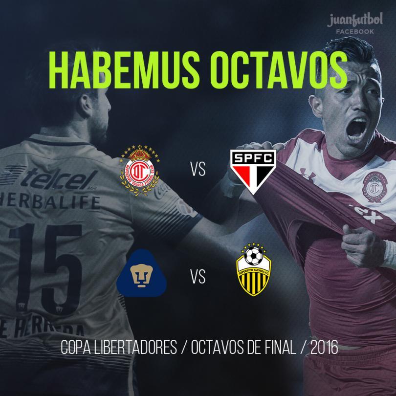 Los mexicanos ya tienen rivales para los Octavos de final de Copa Libertadores.