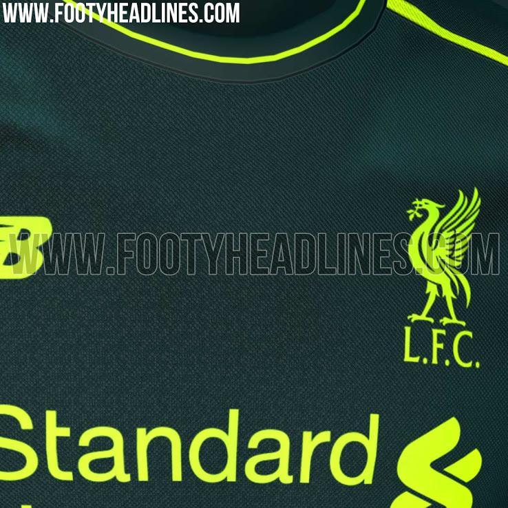 Camiseta alternativa del Liverpool para la próxima temporada.