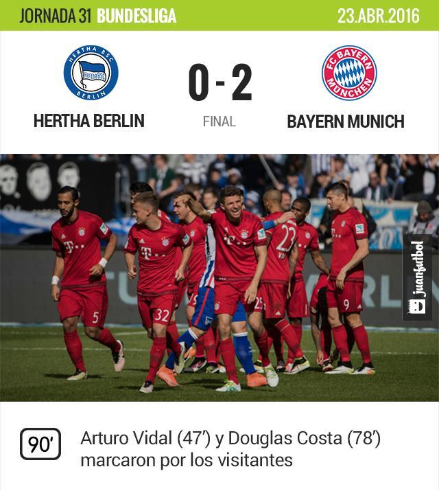 El Bayern Munich tendrá que esperar una semana más para coronarse.