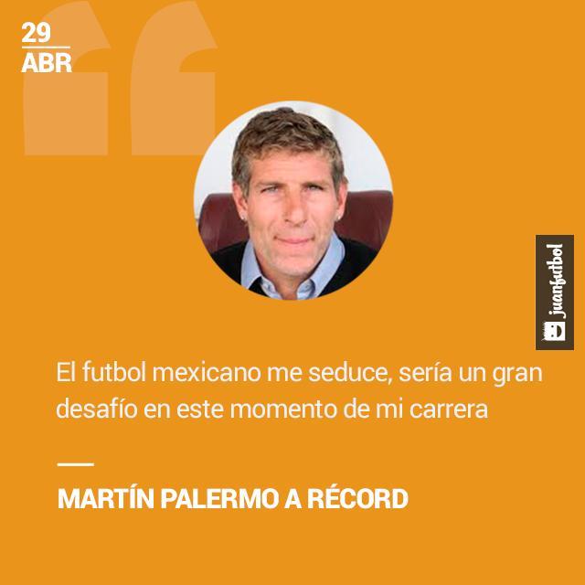 Martín Palermo reconoce que le interesaría dirigir en el futbol mexicano