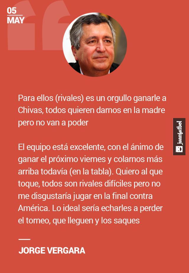 Jorge Vergara habló sobre los rivales de Chivas en la Liguilla,
