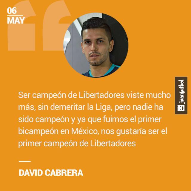 Cabrera prefiere ganar la Libertadores.