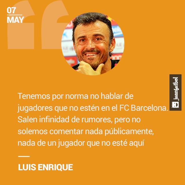 Luis Enrique se niega hablar de los rumores del Barcelona.