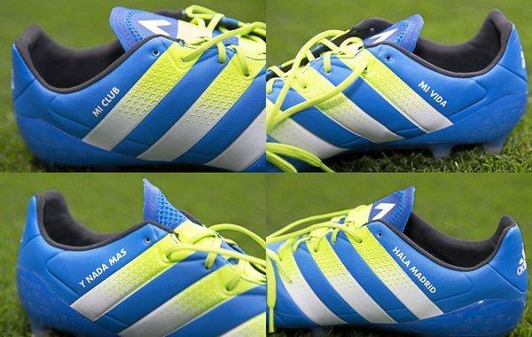Así serán los botines de Arbola en su despedida del Bernabéu.