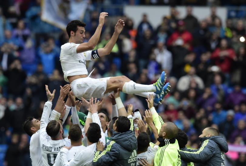 Así fue la despedida de Arbeloa en el Bernabéu.