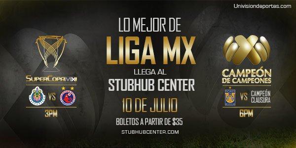 La Supercopa MX y el Campeón de Campeones se jugarán en el Stubhub Center de los Ángeles.