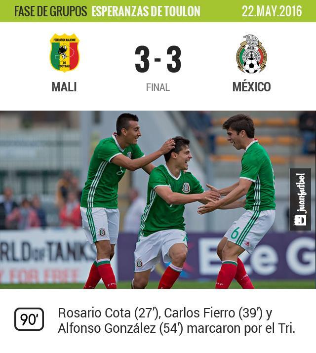 México se despide de la siguiente fase del torneo con un empate