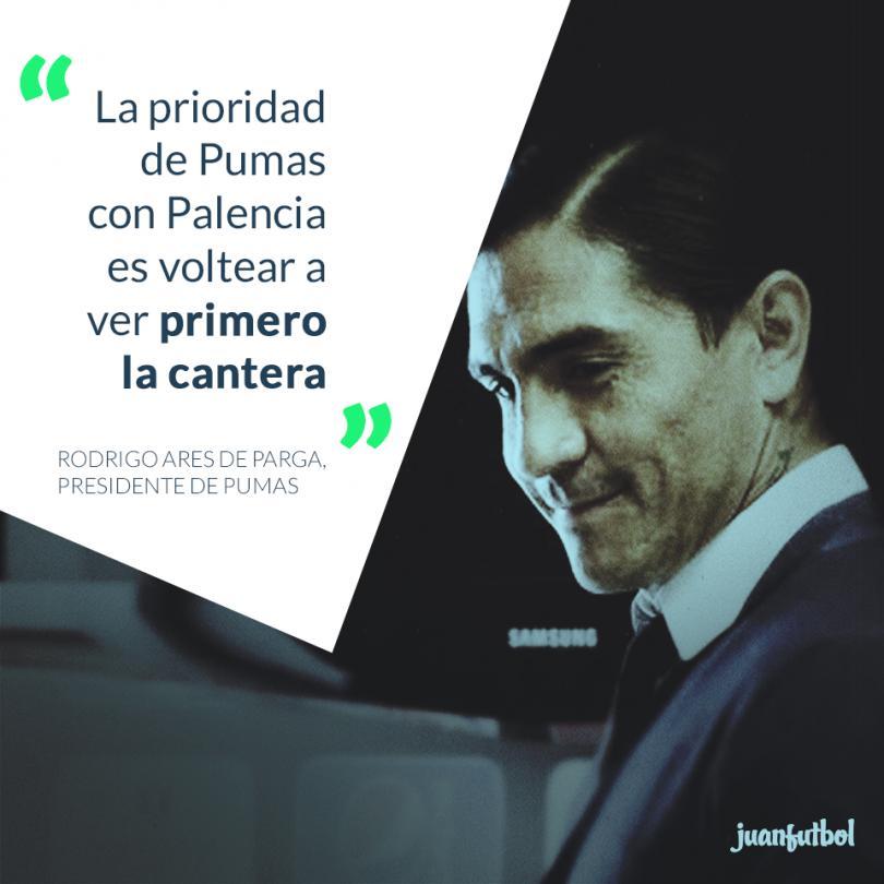 Pumas presentó a Paco Palencia e informó cuál será su accionar dentro del equipo.