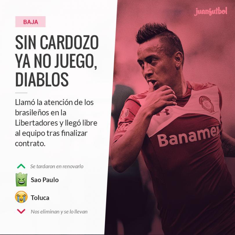 Christian Cueva finaliza contrato con Toluca y firma con el Sao Paulo de Brasil.