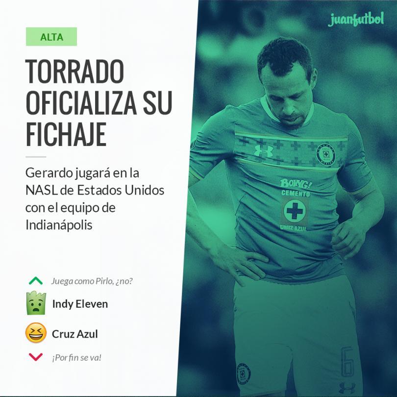 Torrado se va a jugar al Indy Eleven de la NASL
