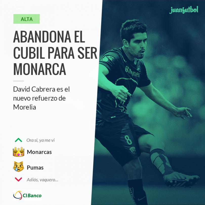 Cabrera llega al Morelia