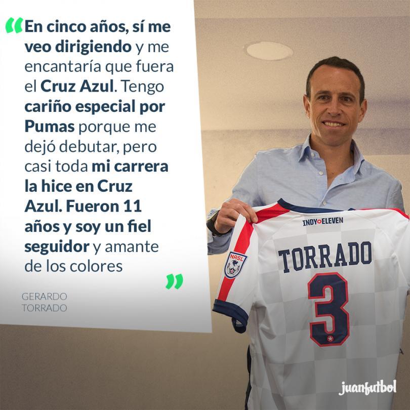 Torrado asegura que en 5 años será técnico y espera que pueda ser de Cruz Azul por que es un seguidor y amante de sus colores.