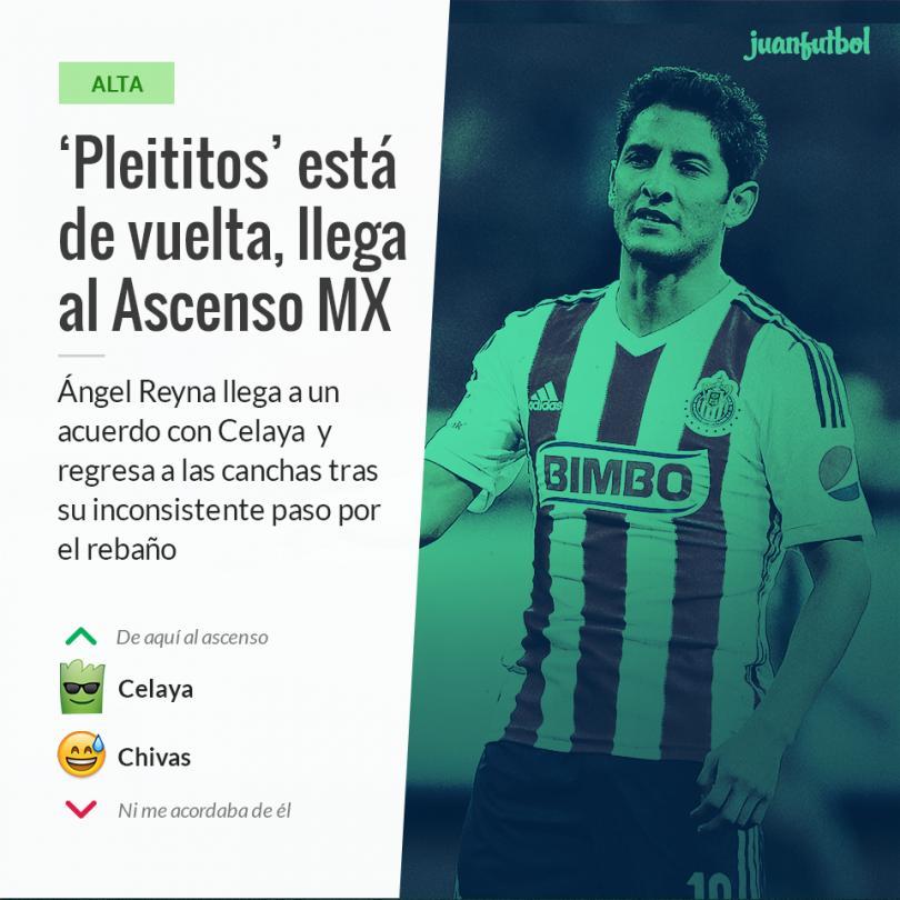 Ángel Reyna nuevo jugador de Celaya