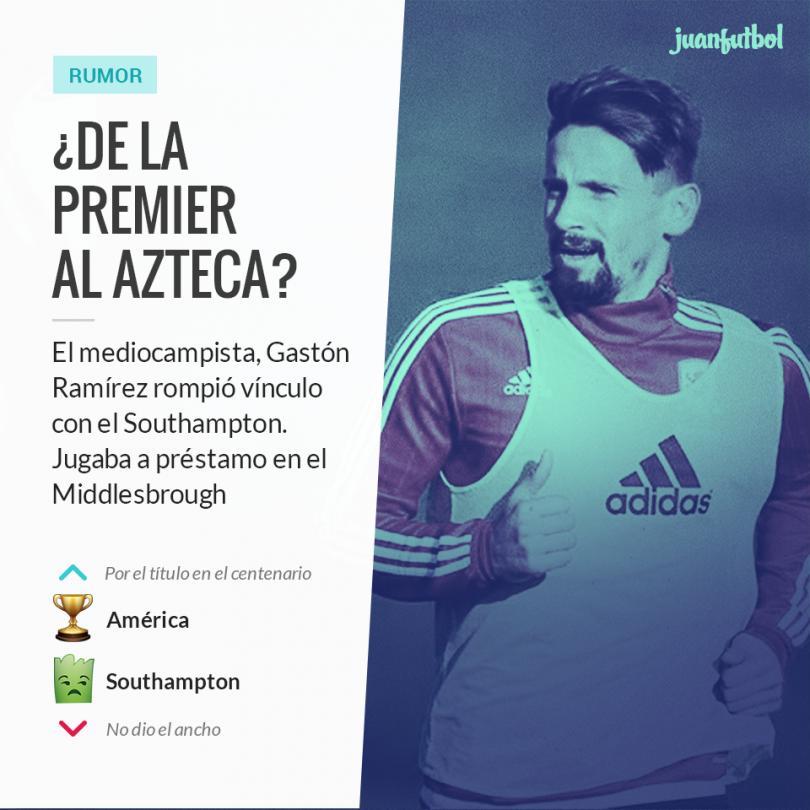 Gastón Ramírez podría ser el nuevo refuerzo del América.