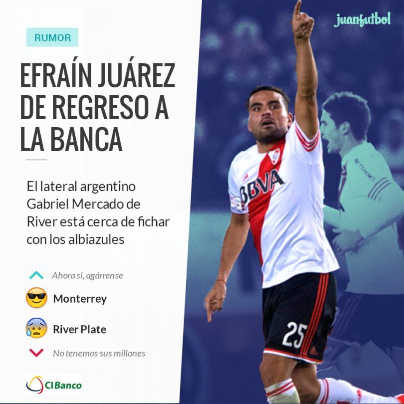 El defensa Gabriel Mercado suena para llegar a Monterrey