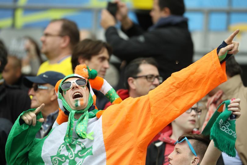 Afición de Irlanda en la euro