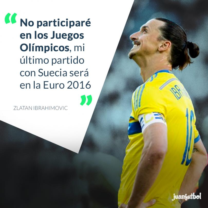 Zlatan Ibrahimovic anuncia su despedida de Suecia.