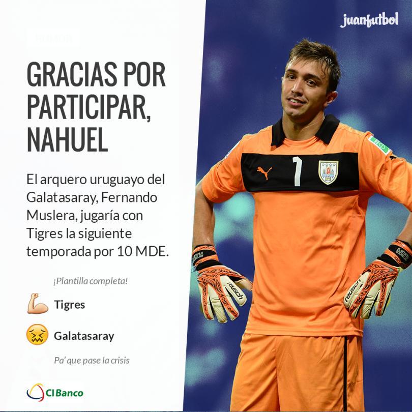 El seleccionado uruguayo sería transferido a Tigres por 10 MDE.
