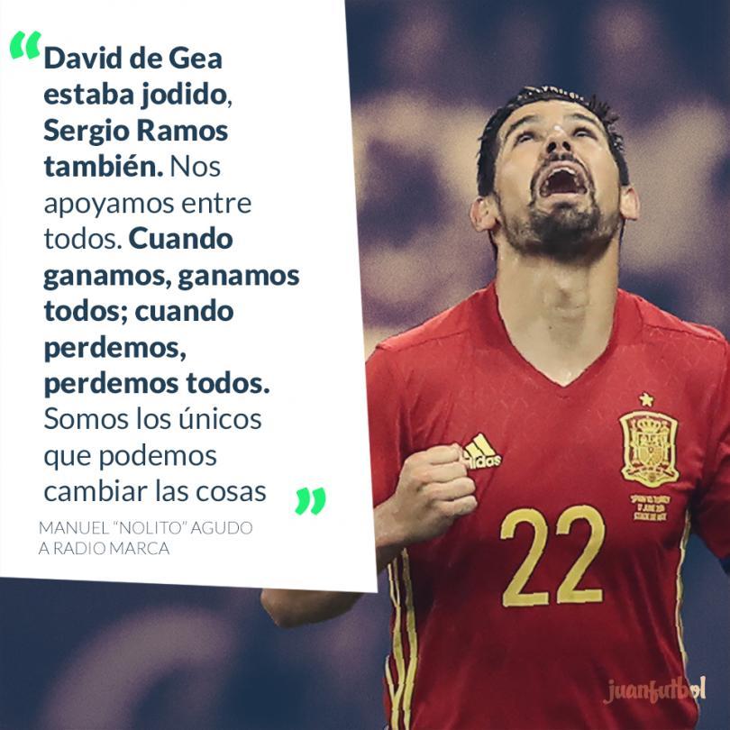 Nolito habla sobre el compañerismo de las selección de España.