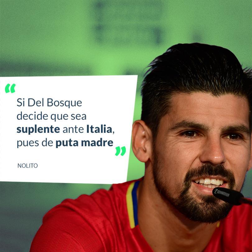 El delantero comenta que no le importa ser suplente Italia.