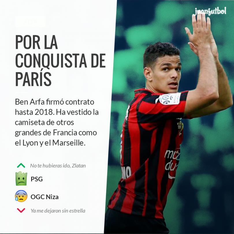El PSG oficializa el fichaje de Ben Arfa.