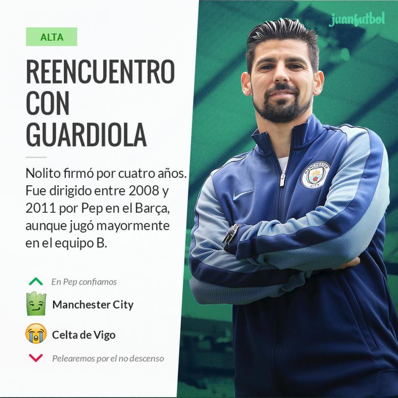 Manchester City confirma el fichaje de Nolito