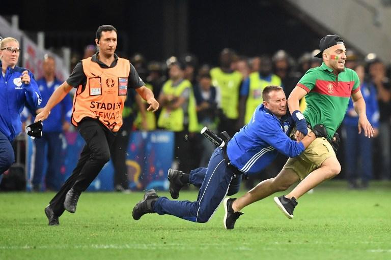 Hubo algunos problemas durante el Polonia vs. Portugal