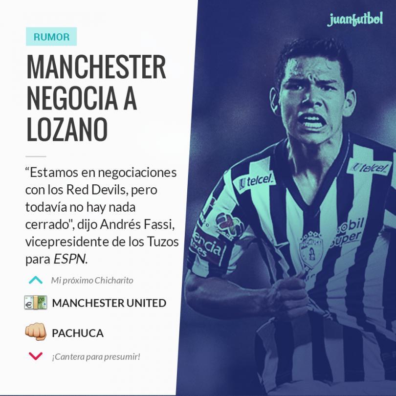Manchester United ya estaría negociando a Chucky Lozano.