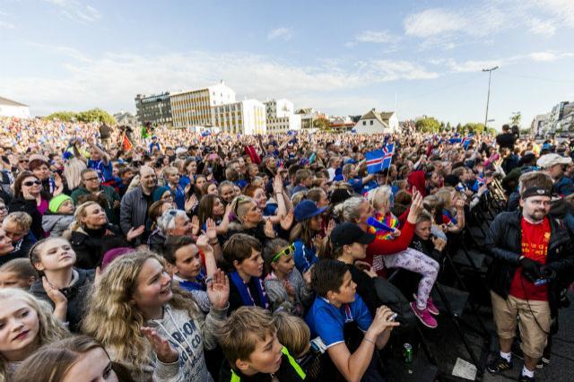 Recibimiento a Islandia